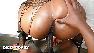 SUBMISSIVE EBONY Old bag Dearly FUCKED HARD AND FACIALIZED