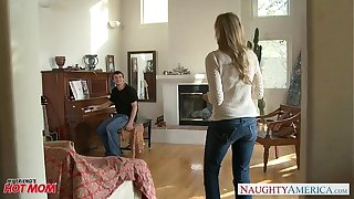 MILF in the air morose jeans Julia Ann gets nailed