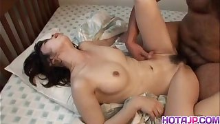 Japanese milf is fucked apropos fingers increased hard by weasel words
