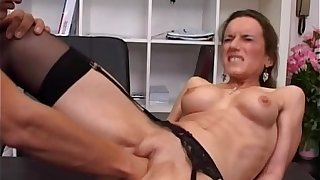 Sex-mad milf fisted ass fucked clone with jizzed regarding the brush prospect