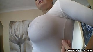 Heavy Bristols English milf stained jugs