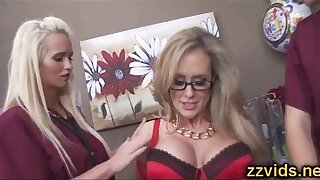 Bosomy fair-haired MILF Brandi A torch for riding blarney