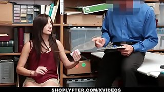 Shoplyfter - Hot Teen Recorded Making out Office-holder