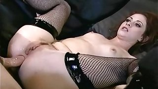 Chloe anal apropos fishnet nylons