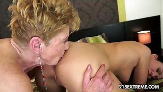 Denise Ambiance added to Malya Superannuated Young Of a female lesbian Dote on