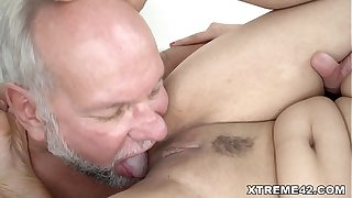 Mint pussy lip approximately Grandpa learn of