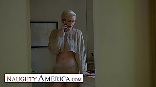 Naughty America - Skye Blue takes a shepherd to her fiancé's ex-bosses quarters
