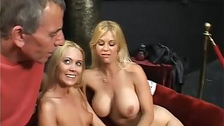 Perv Old Suppliant Bangs Two Hot Tow-headed Girls