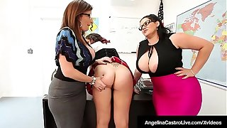 Ms Angelina Castro & Ms Sara Jay Punish Student Gia Love!